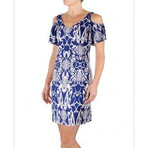 Batik Print Cold Shoulder MSK NWOT Dress